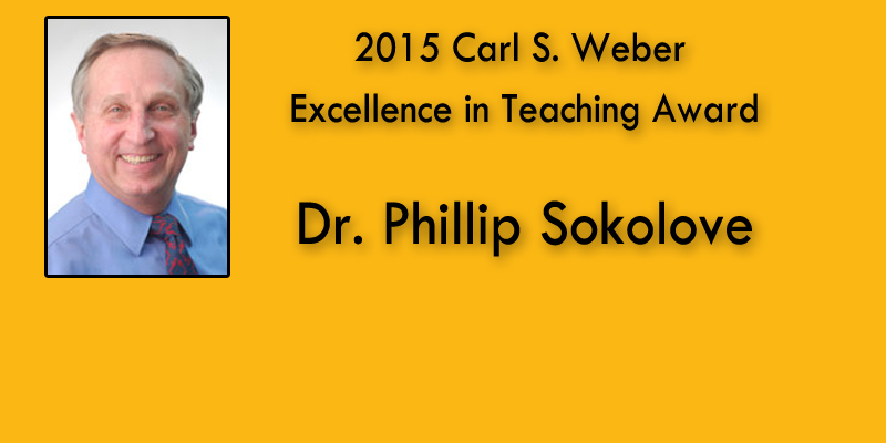2015 Carl S. Weber Excellence in Teach Award